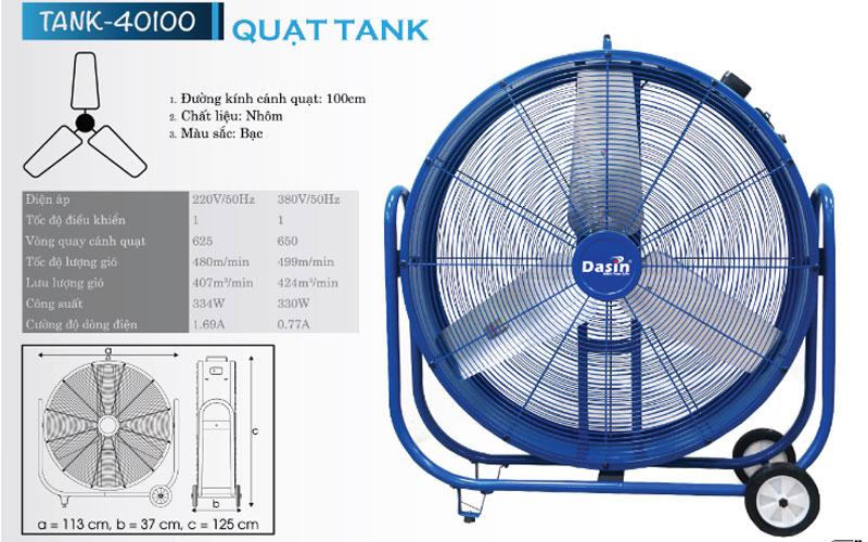 Quạt công nghiệp di động Dasin Tank 40100