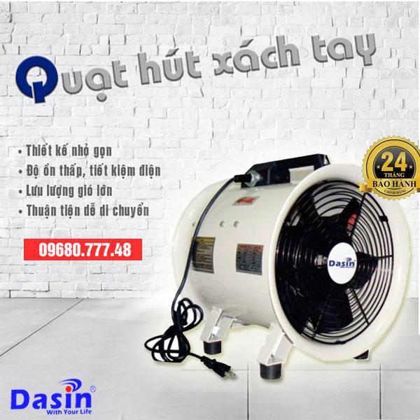 Quạt hút xách tay công nghiệp Dasin KIn 300