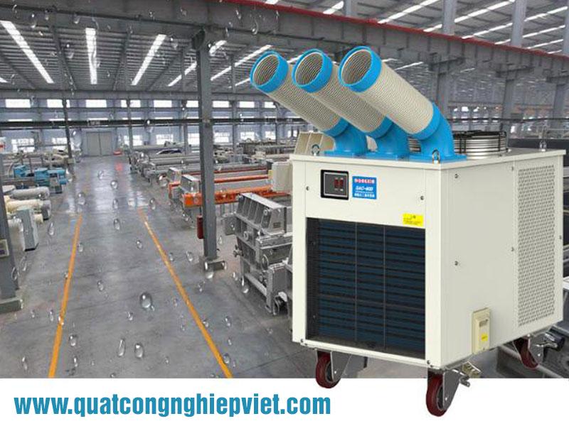Sử dụng máy lạnh Nakatomi làm mát cho công nhân và giảm nhiệt độ máy móc