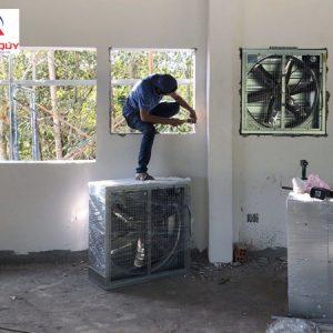 cách lắp quạt thông gió treo tường